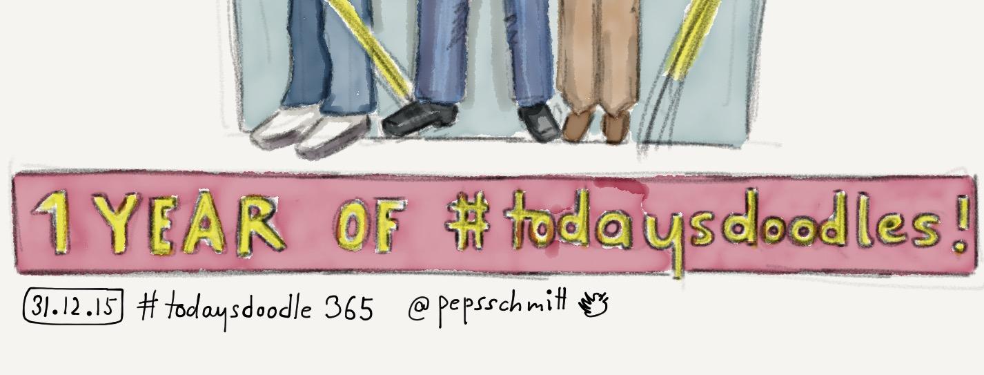 Ein Jahr #todaysdoodle